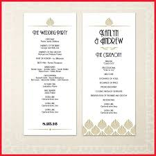 diy wedding program templates beautiful deco wedding program image of wedding planning