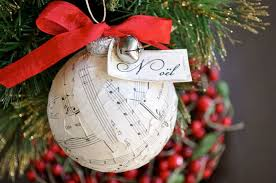 Christmas Decorations To Make Yourself - beautiful sheet music christmas ornaments you can make yourself