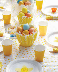 Easter Table Decorations by Easter Egg Hunt Martha Stewart