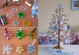 how to diy snowflake ornaments from plastic bottles