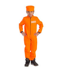 halloween costume kid behind bars prisoner orange jumpsuit boys costume boys costumes