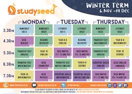 studyseed winter timetable craigavon after school classes and