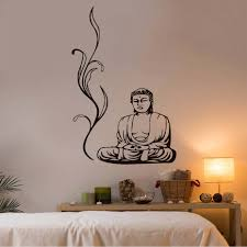 relaxing bedroom decor promotion shop for promotional relaxing high quality buddha wall stickers yoga pose meditation relax floral wall decals diy removable home decor vinyl sticker bedroom