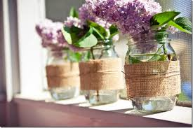 jar vases burlap jar vase jar crafts