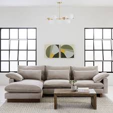 west elm harmony sofa reviews harmony down filled 2 piece chaise sectional west elm