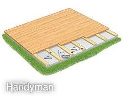 how to build a deck over a concrete patio family handyman