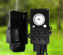 Landscape Lighting Timers The Four Teeth An Outdoor Light Timer Sorrentos Bistro Home