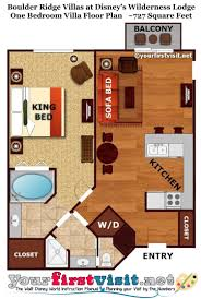 disney vacation club floor plans the living dining kitchen area of a boulder ridge villa at disney s