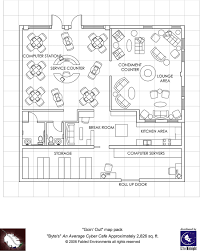 Computer Room Floor Plan by Modern Floorplans Cyber Cafe Fabled Environments Modern