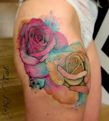 watercolor roses tattoo on hip best tattoo ideas gallery