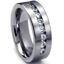 titanium mens wedding band 8 mm men s titanium ring wedding band with 9 large