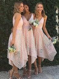 a linie v ausschnitt asymmetrisch spitze brautjungfernkleid mit blumen p495 rosa brautjungfernkleider at hebeos