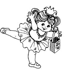 Little Ballerina Of Halloween Coloring Page Color Luna Ballerina Printable Coloring Pages