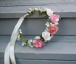 Shabby Chic Wedding Accessories by Shabby Chic Bridal Headpiece Silk Pink Peach Rose Flower Crown
