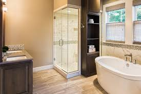 Wood Bathroom Cabinet by Limestone Shower Bathroom Transitional With Dark Wood Cabinets