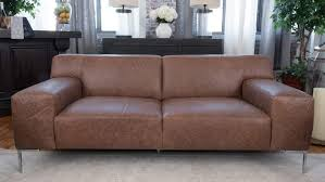 Chestnut Leather Sofa Elements Fine Home Furnishings Industrial Top Grain Leather Sofa