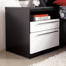 Nightstand With Shelf Millennium Piroska Modern Two Drawer Stand With Shelf