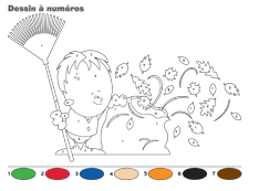 coloriage code automne gs