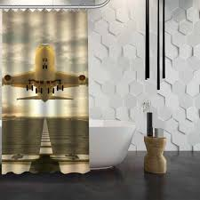 Airplane Shower Curtain Pvblik Com Ideas Gordijnen Decor