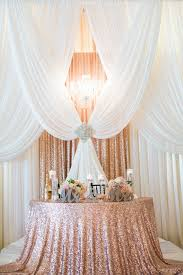 Wedding Drapes For Rent Gorgeous Pipe And Drape Backdrop To A Half Moon Sweetheart Table