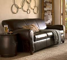 Pottery Barn Furniture Manufacturer Manhattan Leather Sofa Pottery Barn
