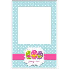happy easter polka dots selfie frame photo booth social media prop