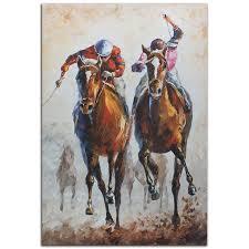 horse racing art u0027contenders u0027 metal giclee modern race