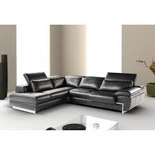 Left Facing Sectional Sofa by Oregon Ii Black Italian Leather Left Hand Facing Sectional Sofa