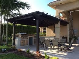 Pergolas In Miami by Pale Outdoor Kitchen With Dark Timber Pergola By Luxapatio Pegol