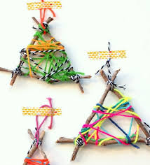 twig string ornament crafts for