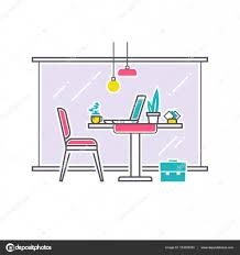 workplace or studying place interior cafe work space concept