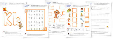 alphabet parade letter k worksheets and activity suggestions