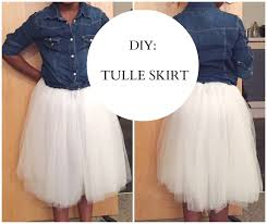 how to make tulle skirt diy tulle skirt easy sewing