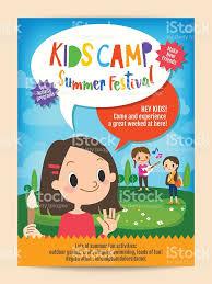 kids summer camp education poster flyer stock vector art 637016066