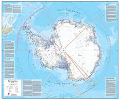 Map Of Antarctica Antarctica 1 7 Wall Map Paper Round World Products