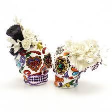 skull cake topper sugar skull cakes muerto skull wedding cake topper