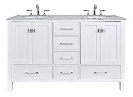 bathroom vanities 60 inches stufurhome gm 6412 60pw cr inch malibu