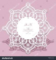 round cutout paper frame laser cut stock vector 488768899