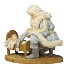 amazon com enesco foundations kneeling santa with baby jesus