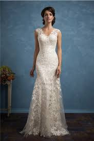 lace wedding dresses vintage sheath v neck vintage lace wedding dress with buttons