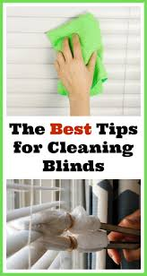 tips for how to clean your window blinds