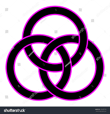 borromean ring borromean rings three interlaced rings your stock vector 172303718