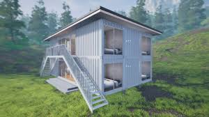 shipping container home 3d renders on vimeo