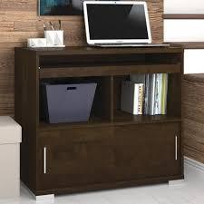 bestar connor credenza desk with keyboard tray moderm room