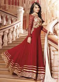Red Bridal Dress Makeup For Brides Pakifashionpakifashion Red Heavy Bridal Anarkali Frock Long For Bridals