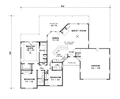 van doren ranch home plan 069d 0050 house plans and more traditional house plan first floor 069d 0050 house plans and more