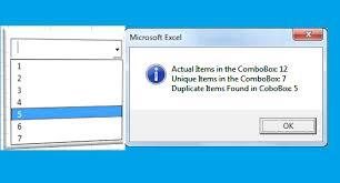 vba to remove duplicates in combobox excel