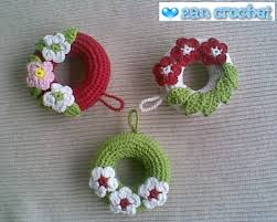 amigurumi wreath ornament zan crochet