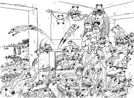 bible cartoons 10 stages in drawing the plague of frogs gett