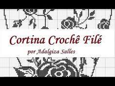 Cristina Autor En Ecortina Tutorial Crochê Filé 1 Cortina Adalgiza Salles